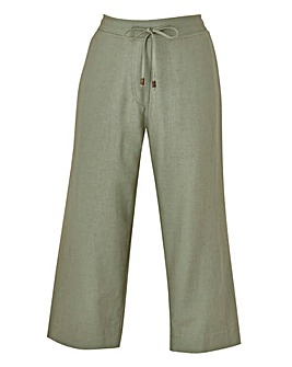Linen Mix Crop Trousers