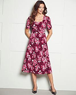 Square Neck Print Dress