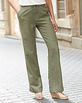 Linen Mix Trousers Regular