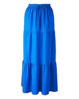 Linen Tiered Maxi Skirt