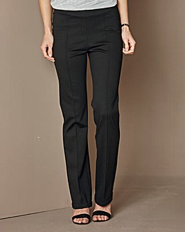 Ponte Bootcut Trouser Short