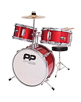 PP Junior 3 Piece Drum Kit Red