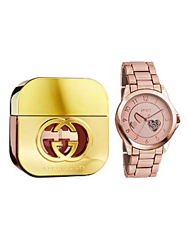 Gucci Guilty 75ml EDT & Free Watch