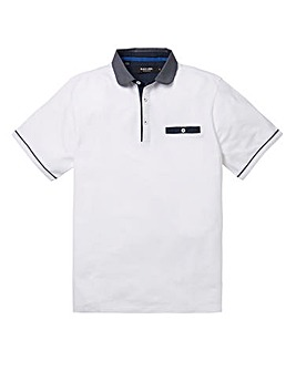 Black Label Hove Pique Polo Shirt Long