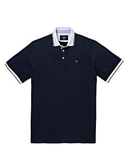 Hackett Mighty Mix Woven Trim Polo Shirt