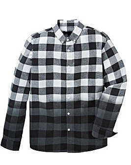 Label J Dip Dye Flannel Check Shirt R