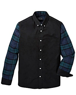 Label J Blocked Check Shirt Long