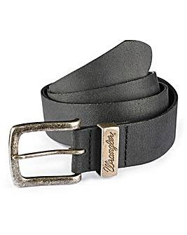 Wrangler Leather Black Metal Loop Belt