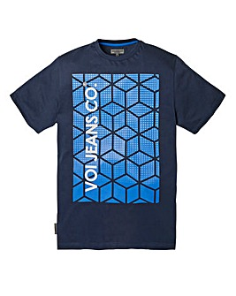 Voi Cube Navy T-Shirt Regular