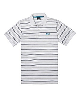 Mitre White Stripe Polo Regular