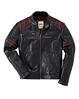 Joe Browns Leather Burn Out Biker Jacket