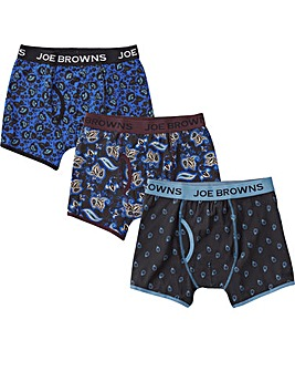 Joe Browns 3 Pack Paisley Boxer Shorts