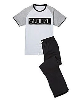 Snooze Slogan Pyjamas