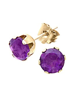 9ct Gold 1Ct Amethyst Earrings