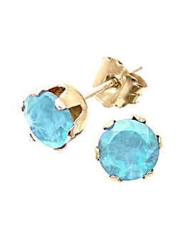 9ct Gold 1Ct Blue Topaz Earrings