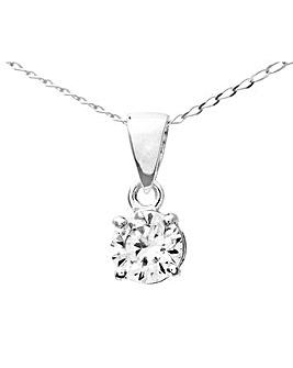 9ct White Gold 0.5Ct Diamond Pendant