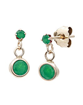 9ct Gold 0.26Ct Emerald Earrings