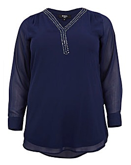 Koko Sequin V Neck Tunic