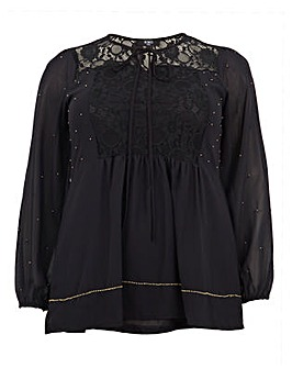 Koko Lace & Bead Detail Tunic