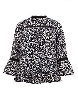 Koko Animal Print Gypsy Sleeve Tunic