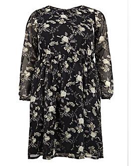 Koko Floral Print Midi Dress