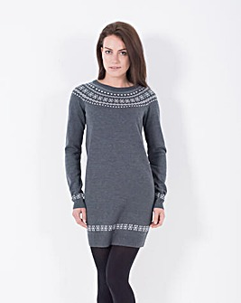Brakeburn Fairisle Hem Dress