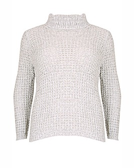 Samya Turtle Neck Knitted Pu