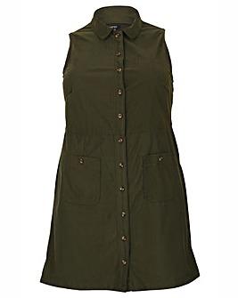 Samya Button Up Collar Dress