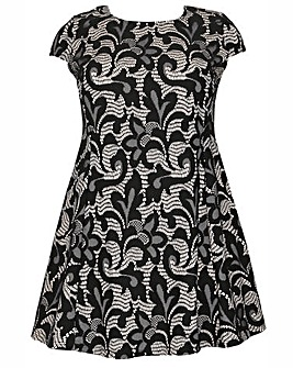 Samya Jacquard Print Skater Dress