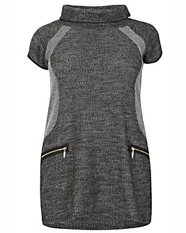 Samya Roll Neck Knit Dress