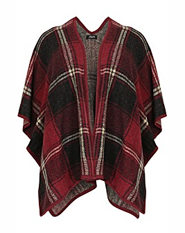 Feverfish Checked Wool Cape