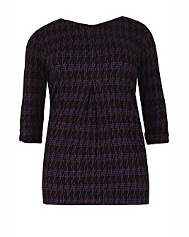 Feverfish Check Pleated Tunic