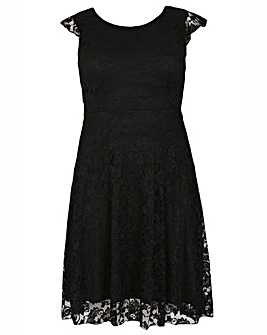 Feverfish Lace Skater Dress