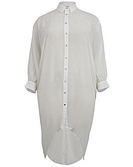 Lovedrobe GB Dip Hem Midi Shirt