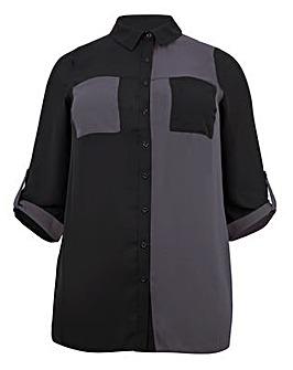 Lovedrobe GB Contrast Pocket Shirt