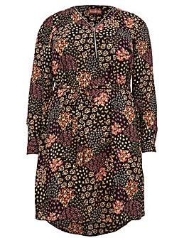 Lovedrobe GB Flower Print Shirt Dress