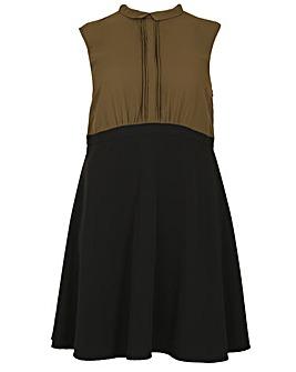 emily Upper Pleat Blouse Dress