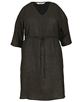 emily Glitter Foil Dress