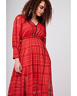 Elvi Red Lace Maxi Dress