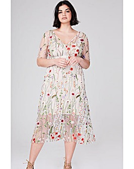 Elvi Floral Net Dress