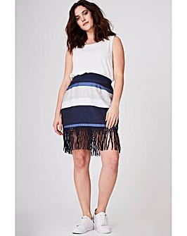 Elvi Linen Fringe Skirt