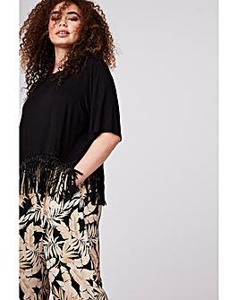 Elvi Tropical Print Culottes