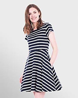 Brakeburn Jersey Stripe Dress