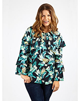 Koko Floral Print Long Sleeve Blouse