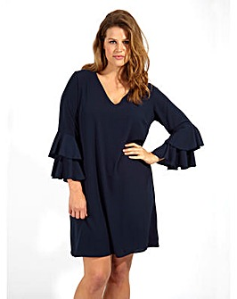 Lovedorbe GB Navy Frill Swing Dress
