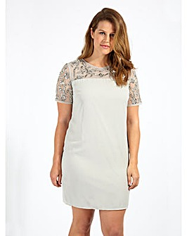 Lovedrobe Luxe Sequin Grey Shift Dress