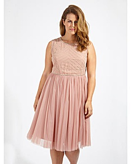 Lovedrobe Luxe Sequin Mauve Tulle Dress