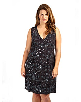 Lovedrobe Luxe Embellished Shift Dress