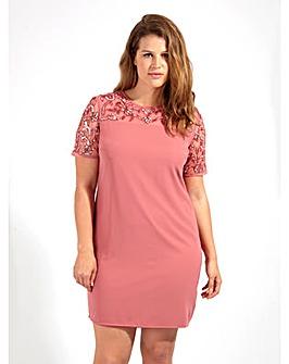 Lovedrobe Luxe Sequin Rose Shift Dress