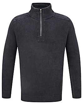Tog24 Hornet Mens Zip Neck Jumper